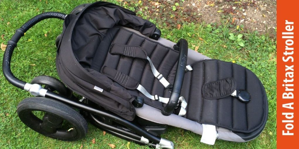 how to fold a britax stroller